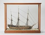Glass Model of a 76–Gun Ship of the Line