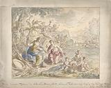 Design for a room painting with allegory on the Earth