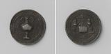 Tappers Guild of Vlissingen, funeral token with no. 49.