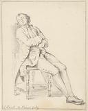 Seated man on chair, sleeping