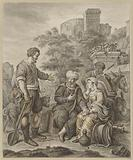 The Levite and his concubine in Gibeah