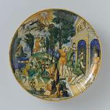 Dish depicting Phaethon Challenged by Epaphus
