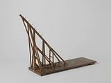 Model of a Crane for Stepping Masts