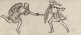Two warring gymnasts with helmets on