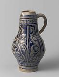 Jug with floral scrolls in panels