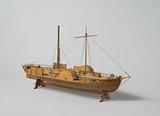 Model of the ferry steamer Wilhelmina