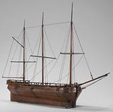 Model of a Three-Masted Ship