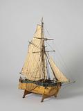 Model of a Gaff-Rigged Gunboat