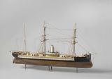 Model of an Ironclad Ram Ship