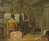 The Artist at his Studio
