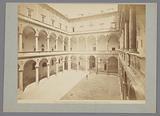 Cortile del Palazzo della Cancelleria, disegno del Bramante