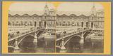 View of the Pont du Carrousel and the Louvre in Paris