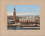 View of the Doge's Palace, the Campanile and surrounding buildings in Venice
