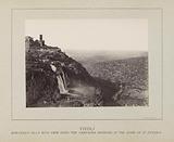 Waterfalls at Tivoli with the villa of Maecenas