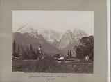 View of Garmisch-Partenkirchen with the Zugspitze in the background