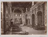 Interior of the Basilica della Santissima Annunziata in Florence