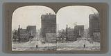 View of Union Square and the St Francis Hotel after the San Francisco earthquake