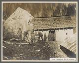Soldiers at an outpost in the Dolomites, presumably Italians