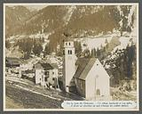 Village bombed with a church and a cemetery in the Dolomites