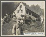 Alpine hunters at an aid station at the front in the Dolomites, probably Italians