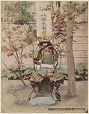 Japanese warrior in armor, sitting