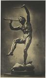 Sculpture of a dancing faun by Eugène-Louis Lequesne, exhibited at the Great Exhibition of the Works of Industry of …