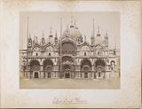 Facade of the San Marco basilica and domes in Venice
