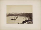 View of the harbor and buildings of (presumably) Sydney