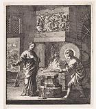 Christ and the personified soul in a forge