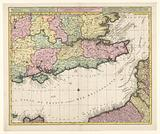Cartography in the Netherlands, map of the Channel and the coasts of southern England and NW France