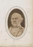 Photo reproduction of a portrait of William Ewart Gladstone, statesman and Prime Minister of the United Kingdom