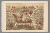 Photo reproduction of a print of the fires during the Bloody Week of the Paris Commune in 1871