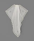 Jabot of batiste with plumetis embroidery with needle lace decorative stitches trimmed with a narrow edge Valenciennes …