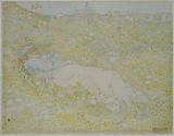 Woman Lying in the Dunes near Noordwijk