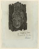 Study of a head of a Siva at the Museum of Ethnology in Leiden
