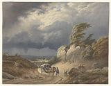 Landscape with approaching storm