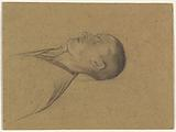 Head and shoulders of a sleeping (dead?) Man