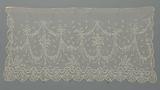 Needle lace and bobbin lace veil (Vieux Bruxelles lace)