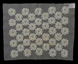 Trial patch for hats balls in lace embroidery with 41 lobed circles