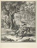 Telemachus kills a lion