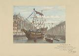 Decorations on the Herengracht on the occasion of the April Festivities 1887