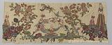 Lambrequin or fragment with chinoiseries in siting application