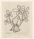 Pigeon in a branch of a chestnut tree