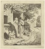 Man at the door of an inn