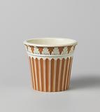 Flower pot of hard-baked pottery, Wedgwood