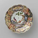 Plate, painted with an Imari decor