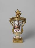Three vases, part of a garniture