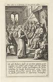 Saint Norbert defends himself in front of the Catholic Church