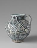 Ovoid ewer with a geometrical pattern