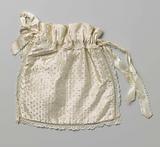 Drawstring purse with ribbons